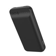 Externí baterie / power bank HOCO J52A - 20000 mAh - 2x USB, 2A, vstup Micro USB / USB-C - černá