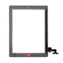 Přední dotykové sklo (touch screen) pro Apple iPad 2.gen. - osazený díl - Home Button + středový rámeček