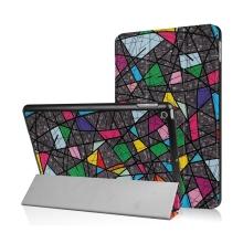 Pouzdro / kryt pro Apple iPad 9,7 (2017-2018) - funkce chytrého uspání + stojánek - barevné tvary
