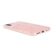 Kryt pro Apple iPhone X / XS - gumový - perleťový - růžový