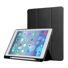 """Pouzdro / kryt pro Apple iPad Pro 12,9"""" / 12,9"""" (2017) - prostor pro Apple Pencil - umělá kůže - černé"""