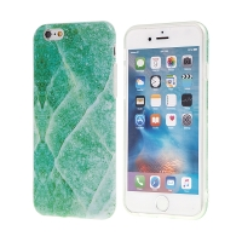 Kryt pro Apple iPhone 6 /  6s - gumový - zelený mramor