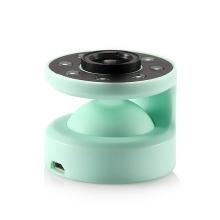 LED selfie světlo + širokoúhlý objektiv + krytka pro Apple iPhone - zelené