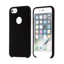 Kryt pro Apple iPhone 6 / 6S - gumový - příjemný na dotek - výřez pro logo - černý