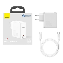 Nabíječka / adaptér BASEUS + 150cm USB-C kabel pro Apple iPad / MacBook - USB-C - 100W - bílá