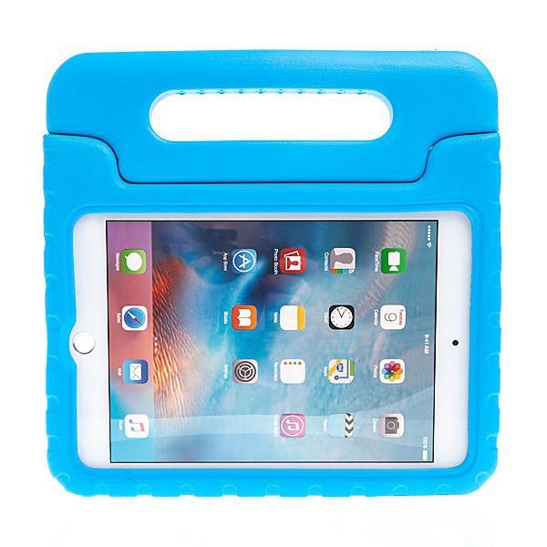 Pěnové pouzdro pro děti na Apple iPad mini 4 s rukojetí / stojánkem - modré