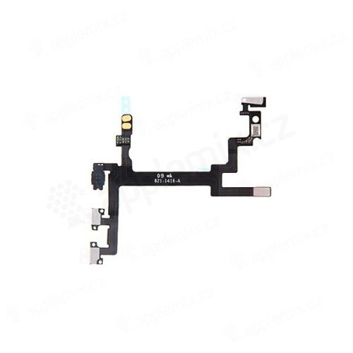 Flex kabel s přepínačem MUTE + ovládání hlasitosti + POWER pro Apple iPhone 5 - kvalita A+