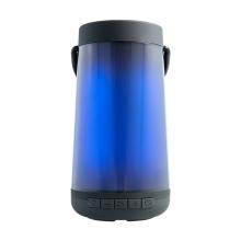 Reproduktor Bluetooth / lucerna - RGB osvětlení - podpora USB / AUX / Micro SD - černý