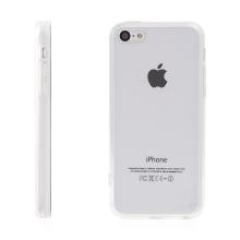 Kryt pro Apple iPhone 5C - gumový / plastový - antiprachové záslepky - průhledný