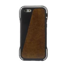 Ochranný gumový kryt s prvkem z umělé kůže a prostorem na platební kartu pro Apple iPhone 6 / 6S