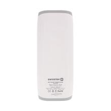 Externí baterie / power bank SWISSTEN 12000mAh s 2x USB (1A, 2.1A) a LED svítilna - bílá