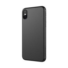 Kryt NILLKIN pro Apple iPhone X - plastový - černý - karbonový