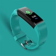 Sportovní fitness náramek - tlakoměr / krokoměr / měřič tepu - Bluetooth - voděodolný - zelený