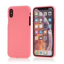 Kryt MERCURY Soft feeling pro Apple iPhone X / Xs - gumový - růžový