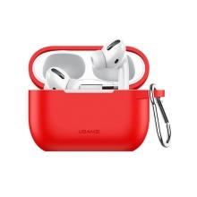 Pouzdro / obal USAMS pro Apple AirPods Pro - silikonové - červené