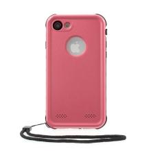 Pouzdro RedPepper Dot+ pro Apple iPhone 7 / 8 / SE (2020) - voděodolné - plastové - černé / růžové