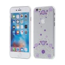 Kryt KINGXBAR Swarovski pro Apple iPhone 6 / 6S plastový - fialový