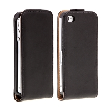 Pouzdro / Kryt pro iPhone 4 / 4S vyklápěcí - magnetické zavírání - černé