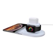 3v1 nabíjecí stanice / stojánek DEVIA  pro Apple iPhone + AirPods + Watch - šedá / bílá