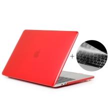 """Obal / kryt ENKAY pro Apple MacBook Pro Retina 15"""" (2016 - 2018) - model A1707, A1990 + kryt klávesnice - červený"""