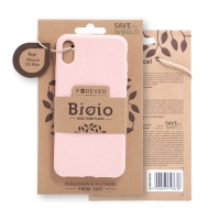 Kryt FOREVER BIOIO - pro Apple iPhone Xs Max - Zero Waste kompostovatelný kryt - růžový