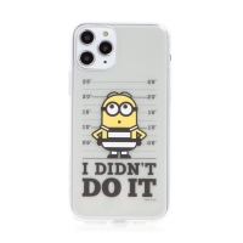 Kryt MIMONI pro Apple iPhone 11 Pro Max - kriminálník mimoň - průhledný