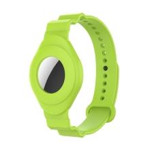 Náramek pro Apple AirTag - pro děti - silikonový - zelený