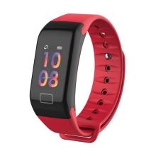 Sportovní fitness náramek LEMONDA - tlakoměr / krokoměr / měřič tepu - Bluetooth - vodotěsný - červený