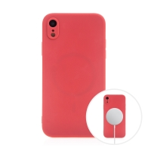 Kryt pro Apple iPhone Xr - MagSafe magnety - silikonový - červený
