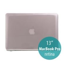 Tenký ochranný plastový obal pro Apple MacBook Pro 13 Retina (model A1425, A1502) - lesklý - šedý