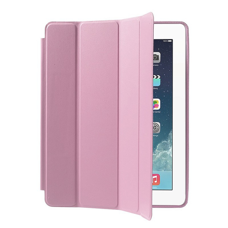 Pouzdro / kryt pro Apple iPad 2 / 3 / 4 - funkce chytrého uspání + stojánek - růžové