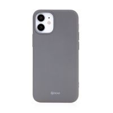 Kryt ROAR pro Apple iPhone 12 mini - gumový - bouřkově šedý