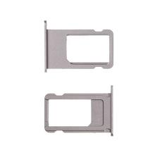 Rámeček / šuplík na Nano SIM pro Apple iPhone 6S - vesmírně šedý (Space Gray) - kvalita A+