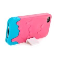 Plastový kryt pro Apple iPhone 4 / 4S - tající zmrzlina