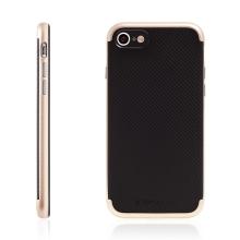 Kryt TOTU pro Apple iPhone 7 / 8 gumový / zlatý (Gold) plastový rámeček - černý