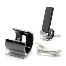 Designová dokovací stanice (dock) s Lightning kabelem pro Apple iPhone / iPod - černá