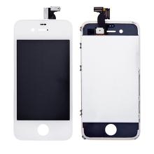 Náhradní LCD panel včetně dotykového skla (digitizéru) pro Apple iPhone 4 - bílý - kvalita A