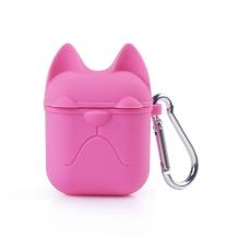 Pouzdro / obal pro Apple AirPods - silikonové - kočička - růžové