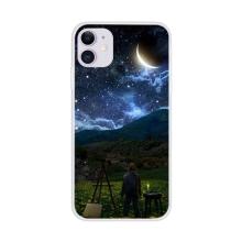 Kryt pro Apple iPhone 12 / 12 Pro - gumový - noční malíř