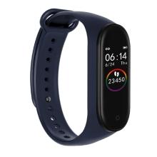 Sportovní fitness náramek M4 - krokoměr / měřič tepu / notifikace - Bluetooth - voděodolný - modrý