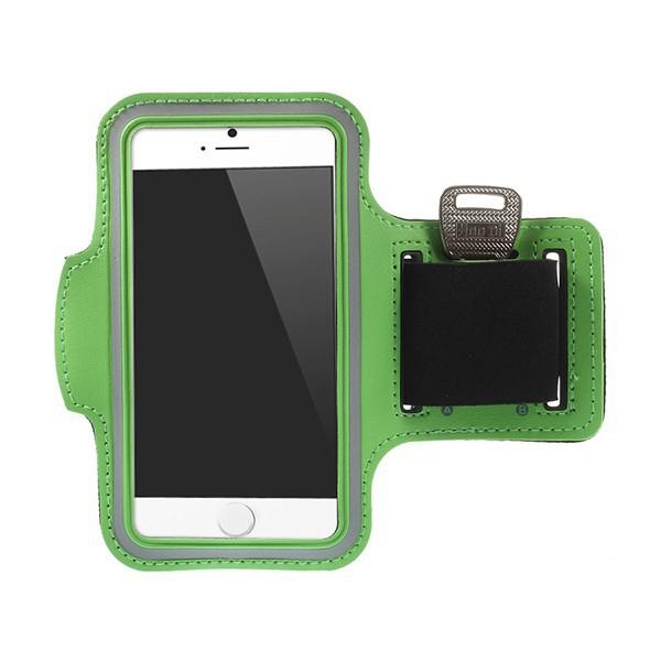 Sportovní pouzdro pro Apple iPhone 6 / 6S - zelené s reflexním pruhem