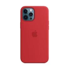Originální kryt pro Apple iPhone 12 Pro Max - silikonový - červený