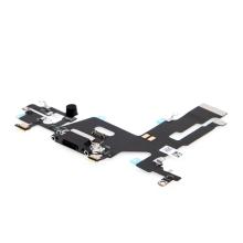 Napájecí a datový konektor s flex kabelem + mikrofony pro Apple iPhone 11 - černý - kvalita A+