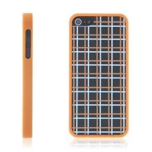 Ochranný plastový kryt s oddělitelným oranžovým rámečkem pro Apple iPhone 5 / 5S / SE