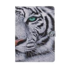 Pouzdro pro Apple iPad Pro 10,5 - stojánek + funkce chytrého uspání - bílý tygr