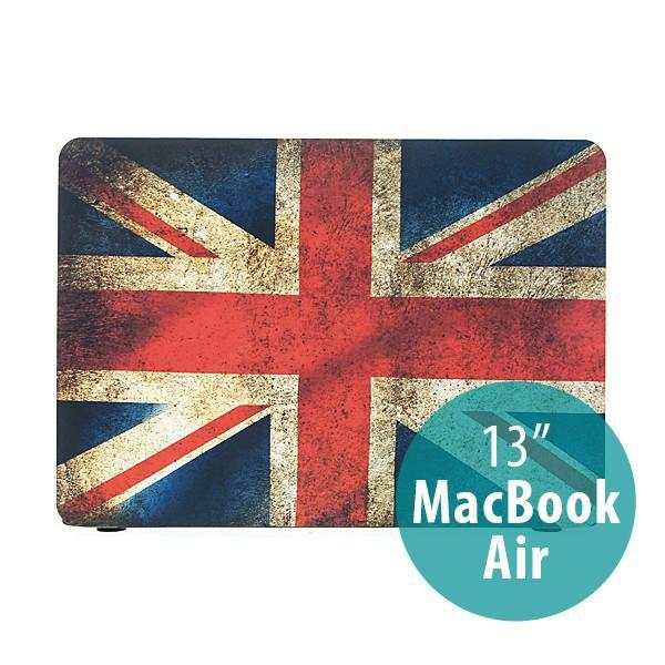 Ochranný plastový obal pro Apple MacBook Air 13.3 - retro vlajka GB