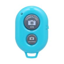 Dálková spoušť Bluetooth pro Apple iPhone a další zařízení - plastová - modrá