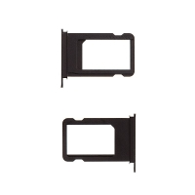 Rámeček / šuplík na Nano SIM pro Apple iPhone 7 - černý (Black) - kvalita A+
