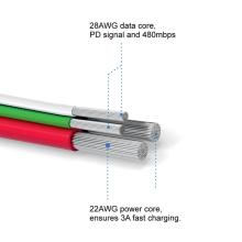 Synchronizační a nabíjecí kabel SWISSTEN - MFi Lightning pro Apple zařízení - tkanička - 2m