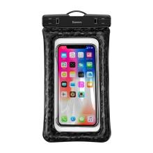 Pouzdro BASEUS pro Apple iPhone - voděodolné - plast / guma - černé / průhledné